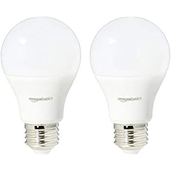 AmazonBasics 60 Watt Equivalent, Daylight, Non-Dimmable, A19 LED Light Bulb | 2-Pack $5.81