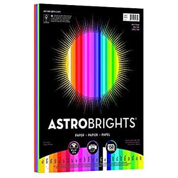 "Add-on: Astrobrights Color Paper, 8.5"" x 11"", 24 lb/89 gsm,Spectrum 25-Color Assortment, 150 Sheets $6.99"
