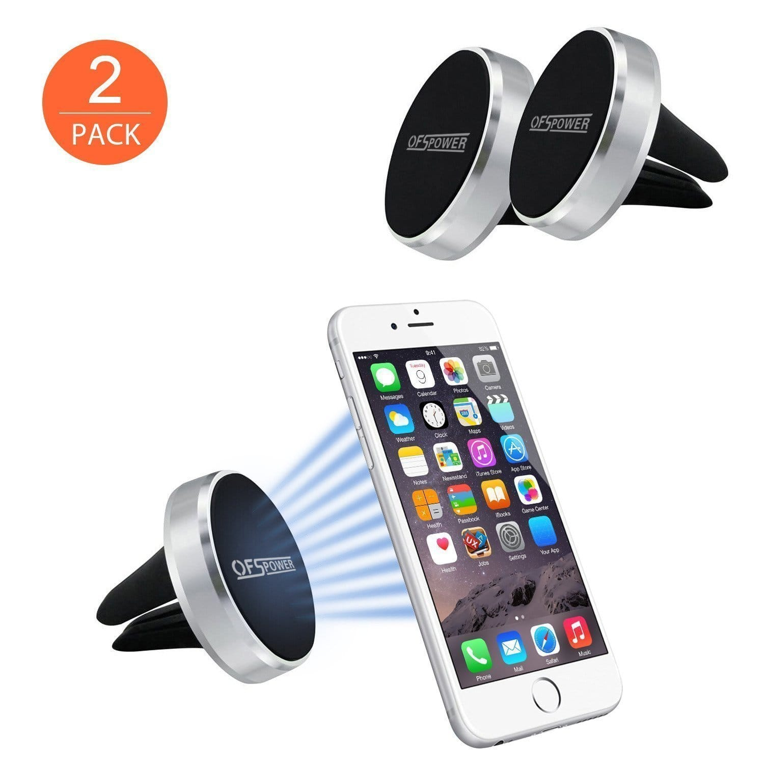 ADD-ON: 2 Pack Aluminum Universal Magnetic Air Vent Car Mount Phone Holder $5.99