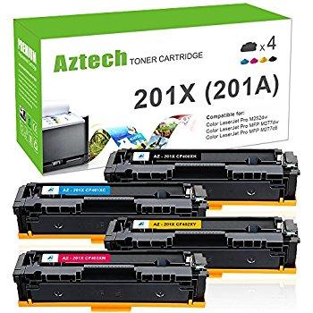 HP 201A 201X CF400X 4-Color Compatible Toner Cartridges $68.99