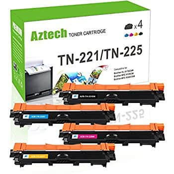 4 Pack Compatible Toner Cartridge Color Set for Brother TN-221 TN-225 for $25