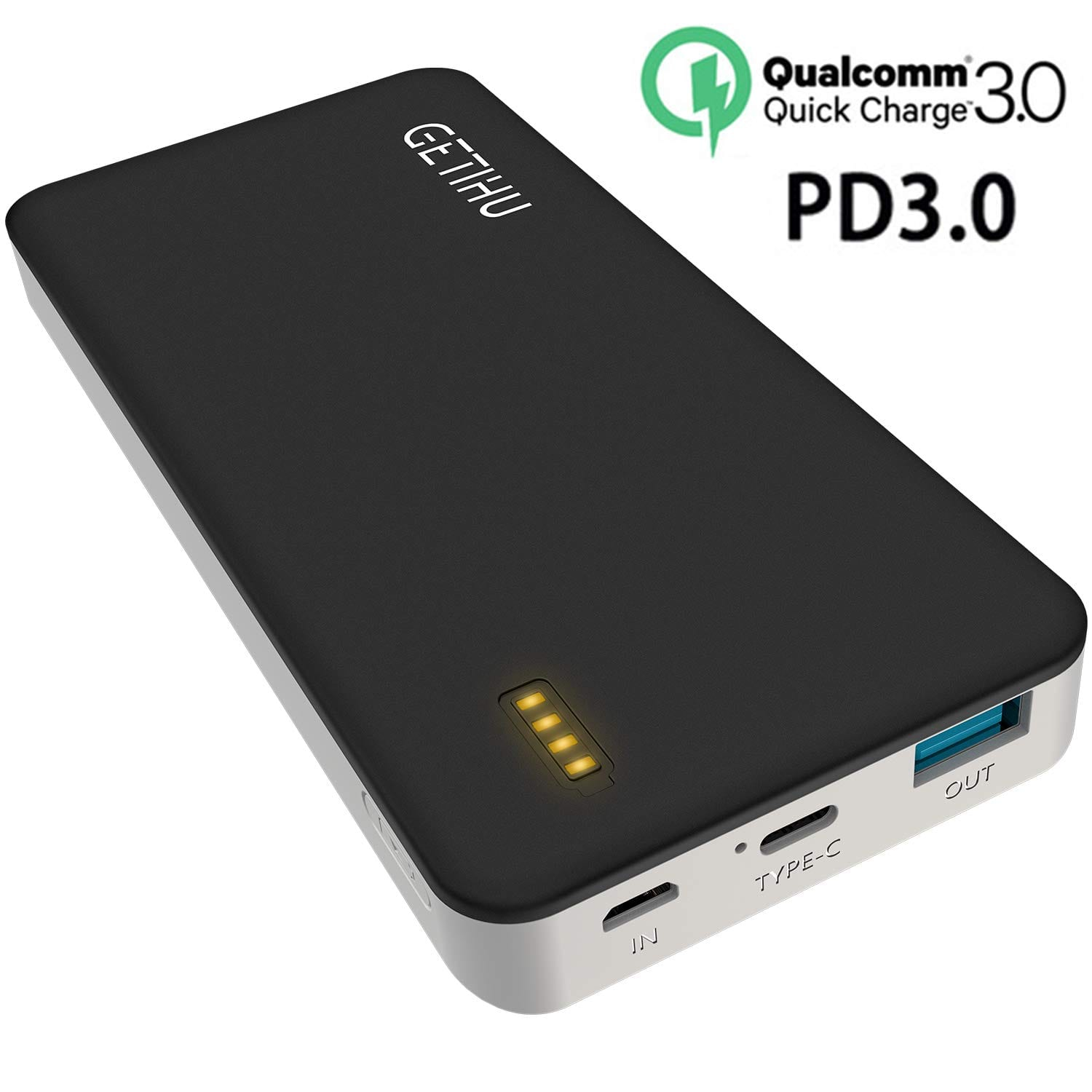 GETIHU USB C 10000mAh PD/QC3.0 Power Bank 18W $13 (Amazon)