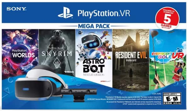 Sony PSVR Mega Pack Bundle $199.99 or 189.99 with RedCard Black Friday Deal is live @Target
