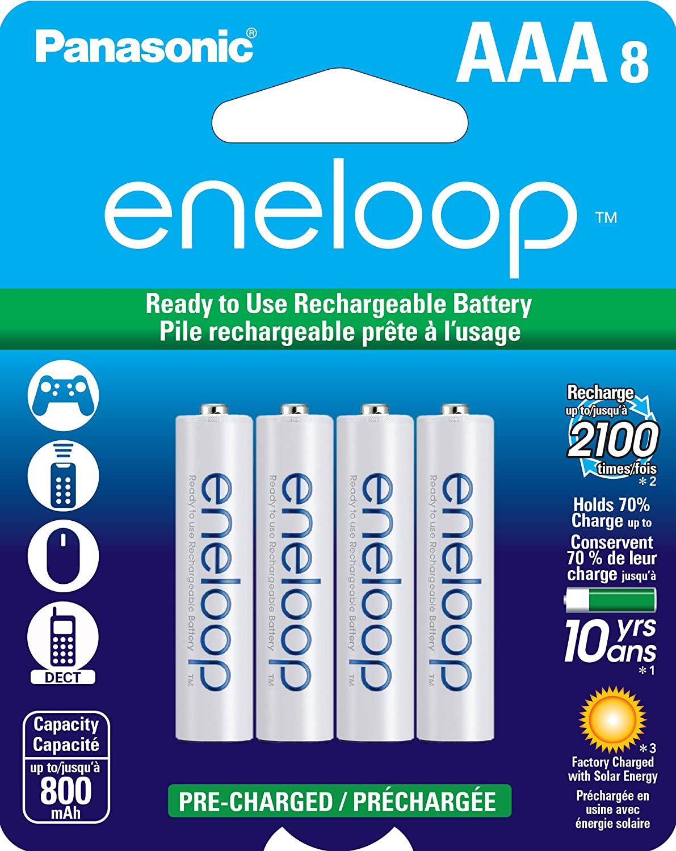 Eneloop AAA 8-pack $15.27 Amazon
