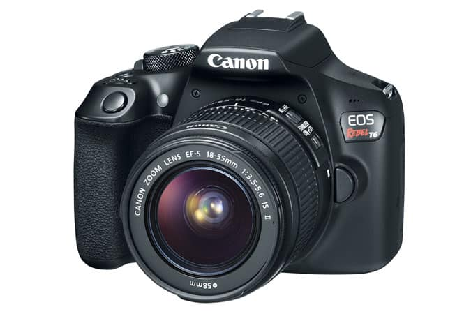 Canon DSLR EOS T6 EF S with Kit lense 18-55mm Refurbished $228