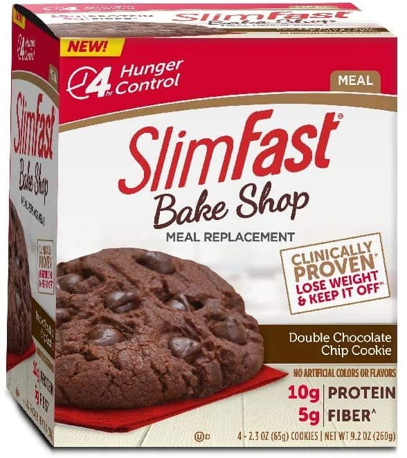 4-Count 2.3 Oz SlimFast Bakeshop Meal Replacement Cookie (Double Chocolate Chip)