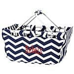 Personalized Navy Chevron Market Tote for only $30 (shipping approx $4.49)