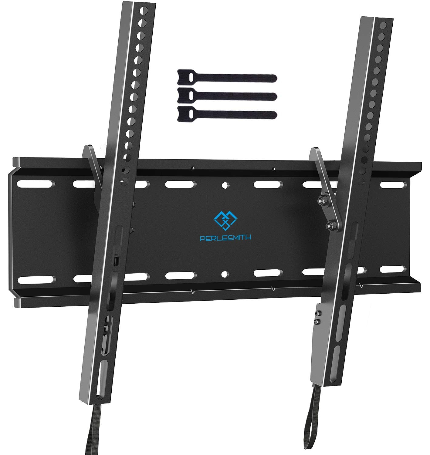 Tilting TV Wall Mount Bracket ($9.44 AC) Low Profile for Most 23-55 Inch LED, LCD, OLED, Plasma Flat Screen TVs with VESA 400x400mm Weight up to 115lbs by PERLESMITH at Amazon