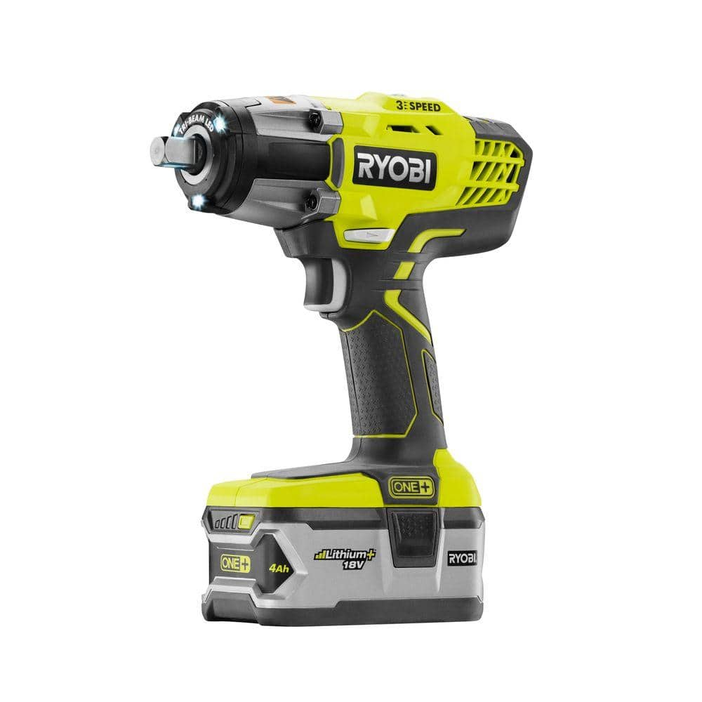Ryobi 18-Volt ONE+ Impact Wrench Kit (Tool, Battery, Charger) $70 YMMV B&M at Home Depot