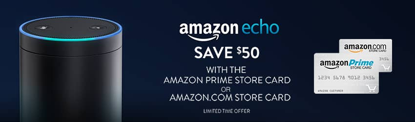 Amazon.com Store Card or Amazon Prime Store Card Owners get $50 off Amazon Echo for $129.99