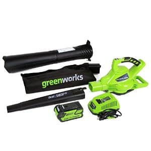GreenWorks 24322 G-MAX 40V 185MPH Variable Speed Cordless Blower / Vac, 4Ah Battery and Charger Included  $131 + free shipping