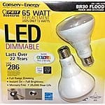 LED Dimmable Flood Lamp 65W BR30 2-Pack @ Costco in-store $7.99