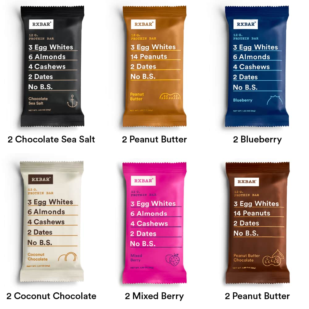 12-Pack +2 RXBAR Whole Food Protein Bars (various flavors) $20