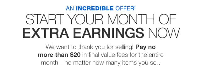eBay - Pay no more than $20 in final value fees for all of June - YMMV