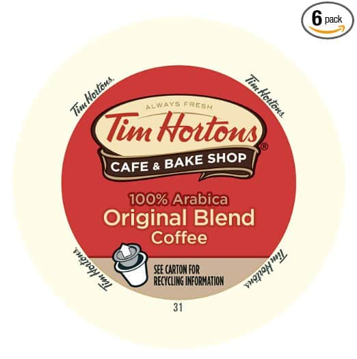 Tim Horton's Single Serve Coffee Cups, Original Blend, 12 Count (Pack of 6) - as low as $26.38 - Amazon