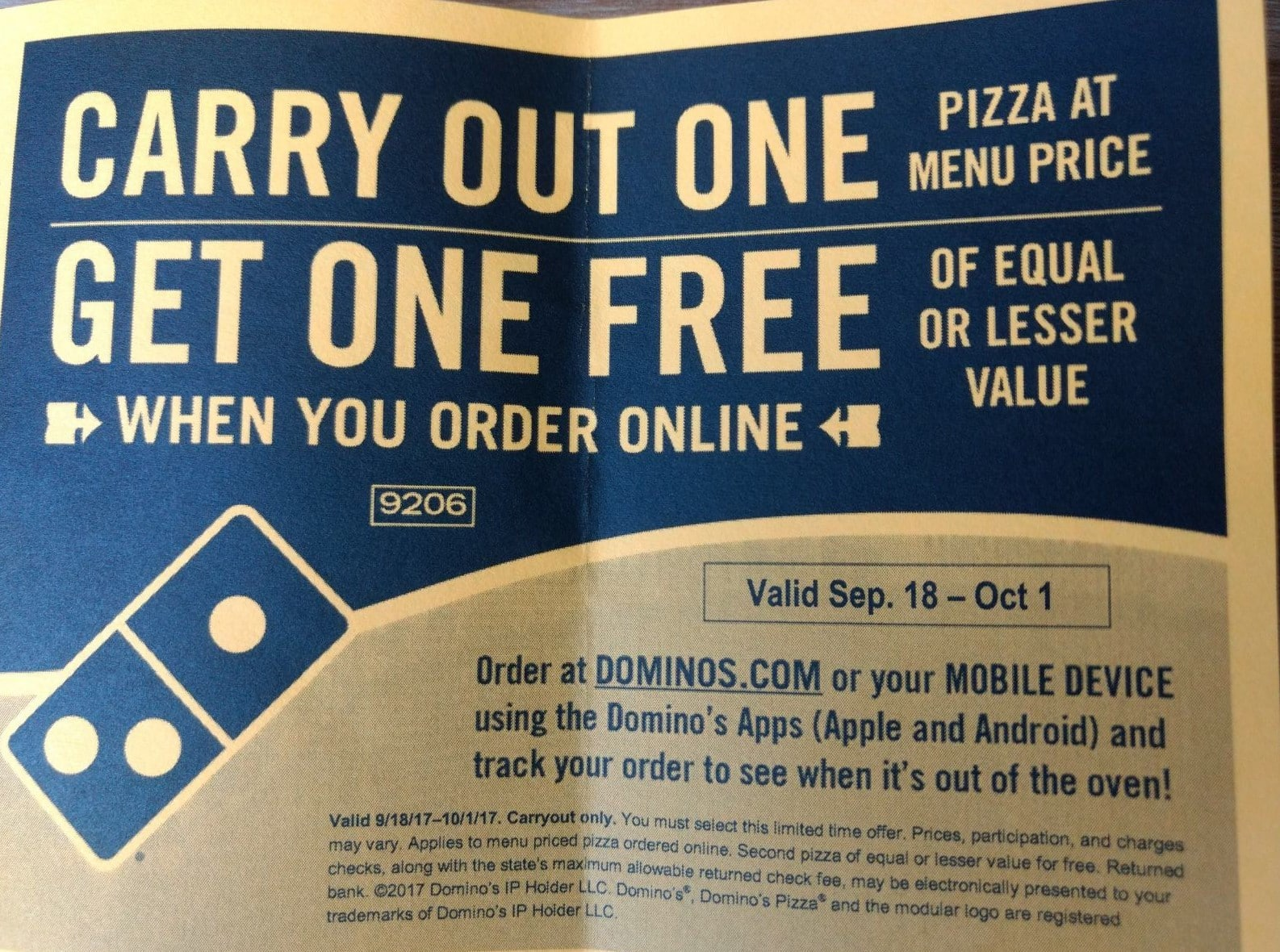 Dominos coupons spy deals