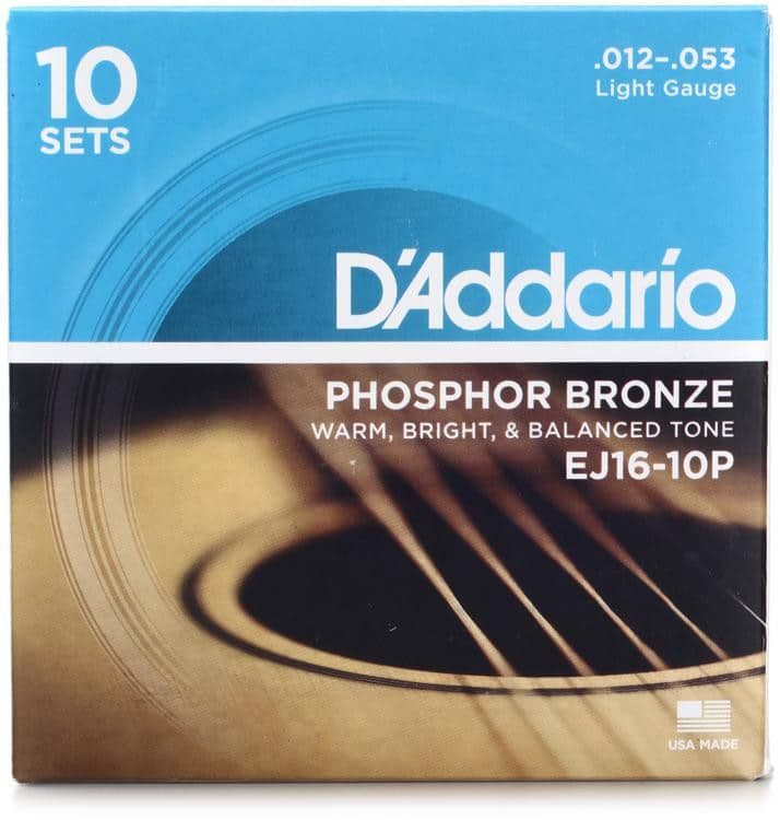 10-Pack of D'Addario EJ16 or EJ26 strings with 2 free micro tuners - $54.99 F/S @ Sweetwater