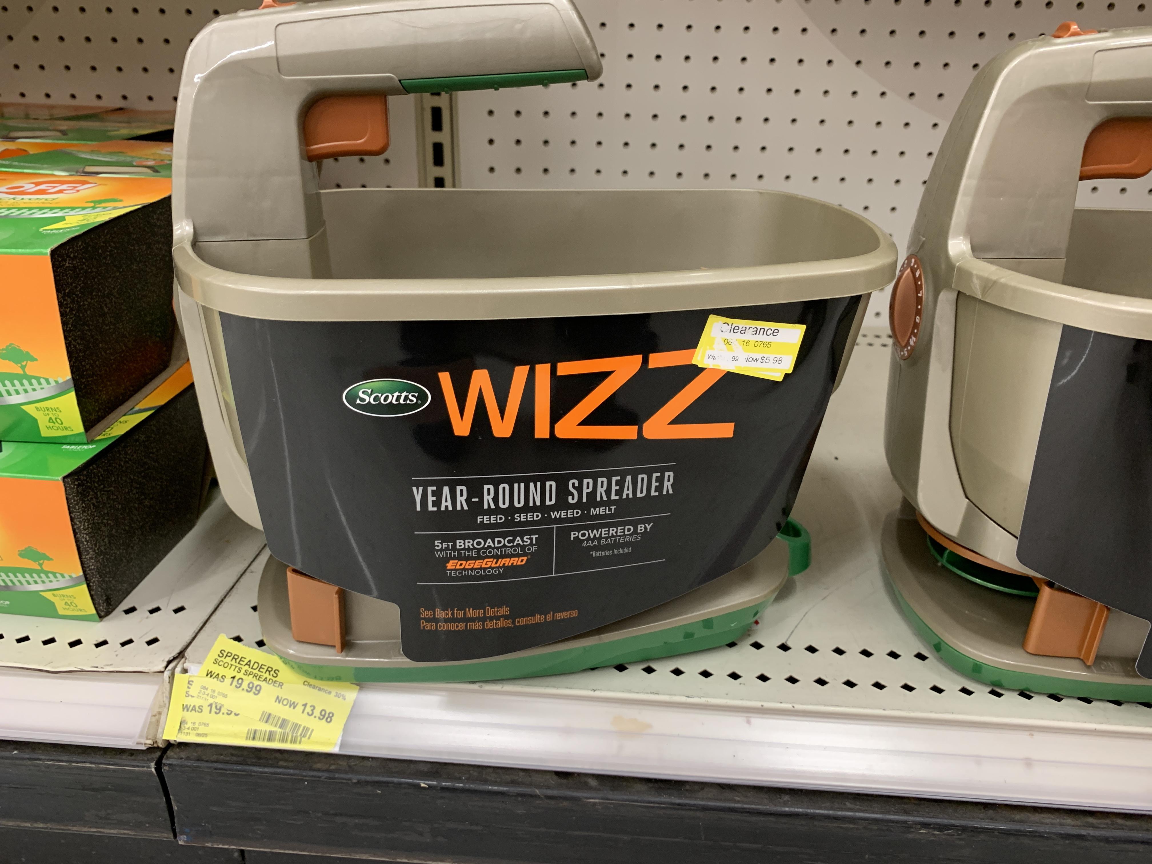 Target: Scotts Wizz Spreader (YMMV) $5.98