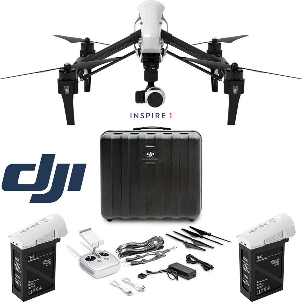 DJI Inspire 1 Quadcopter Drone w/ 4K Camera, Hard Case & Extra Battery Bundle ($2099) + FREE SHIPPING