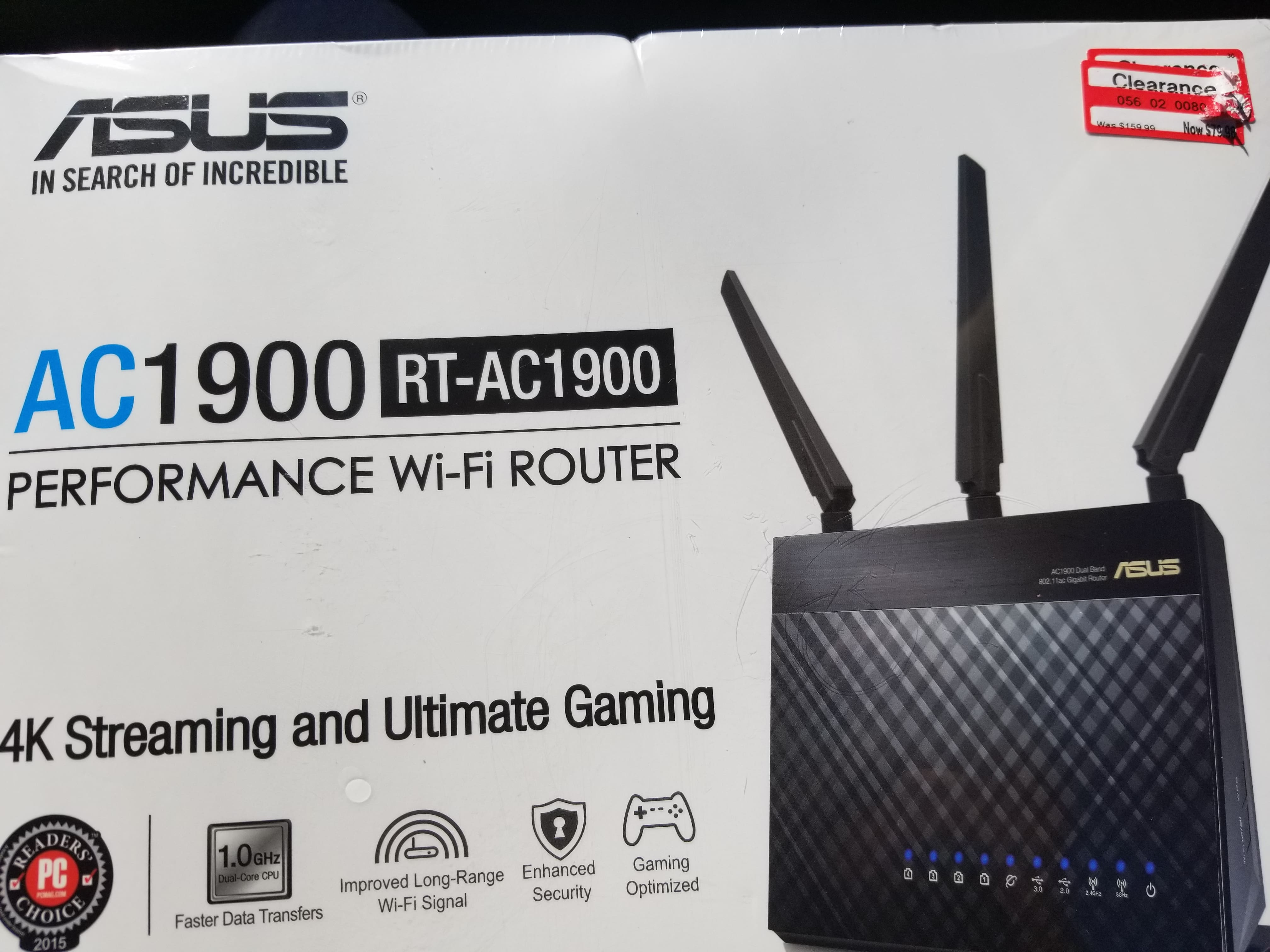 ASUS RT-AC68R AC1900 Wireless Router target ymmv $80
