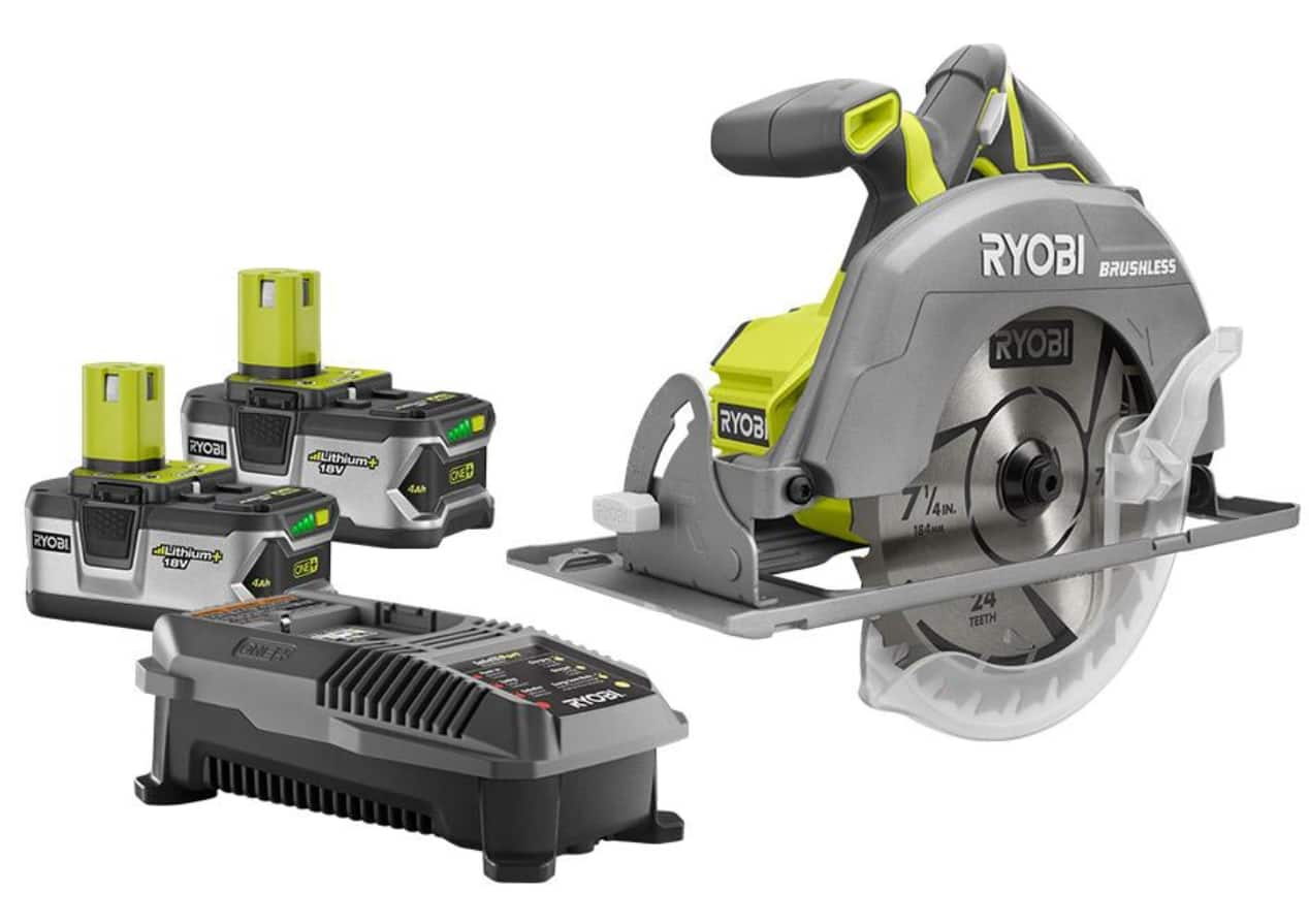 Ryobi 18v one cordless circular saw w 2x batteries charger deal image greentooth Image collections