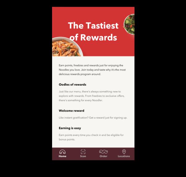 Noodles rewards members: get 600 bonus points when ordering lunch this week