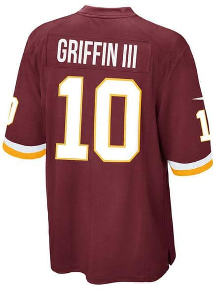 RGIII Redskins jersey 95% off $11.45 shipped; maybe less