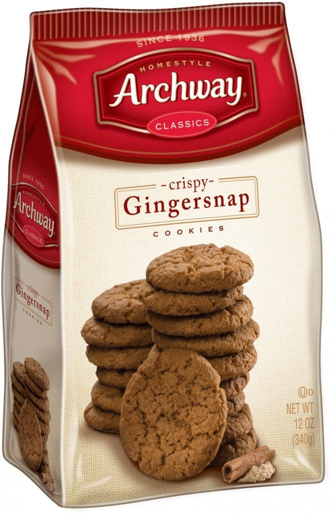 Archway Cookies, Crispy Gingersnaps Cookies, 12 Ounce $1.49 + free ship w/ Prime