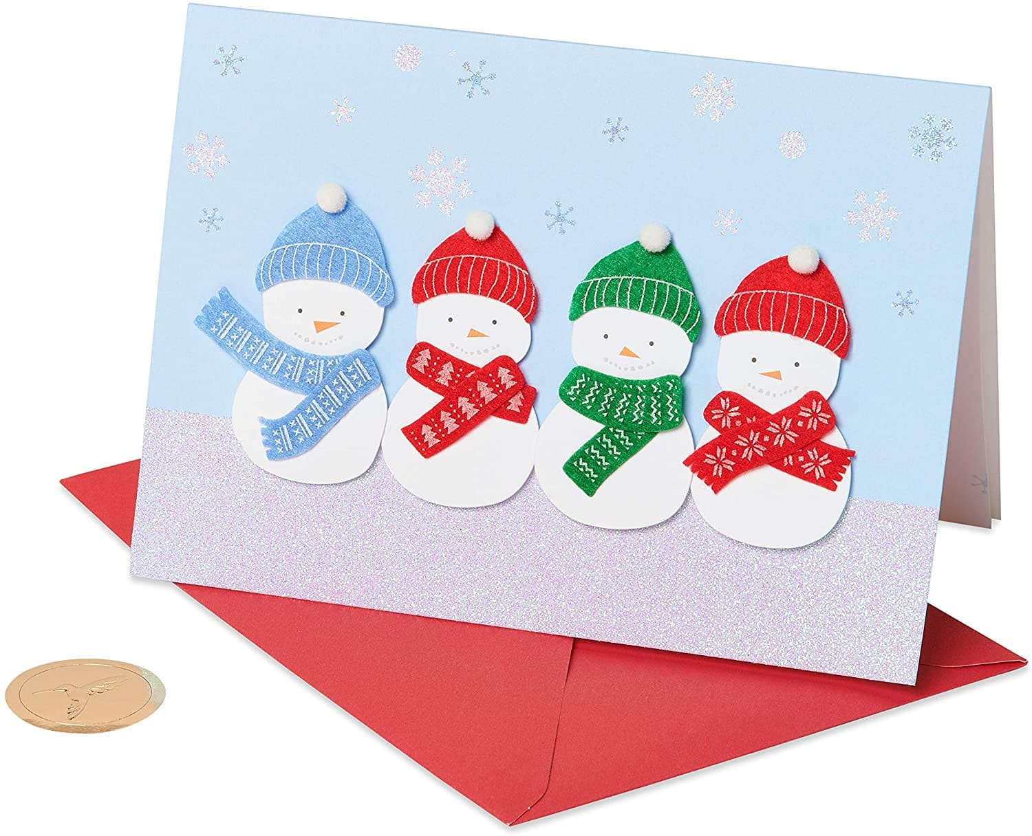 Papyrus Christmas Cards Boxed, Holiday Snowman Glitter (8-Count) $2.94 + free ship w/ prime