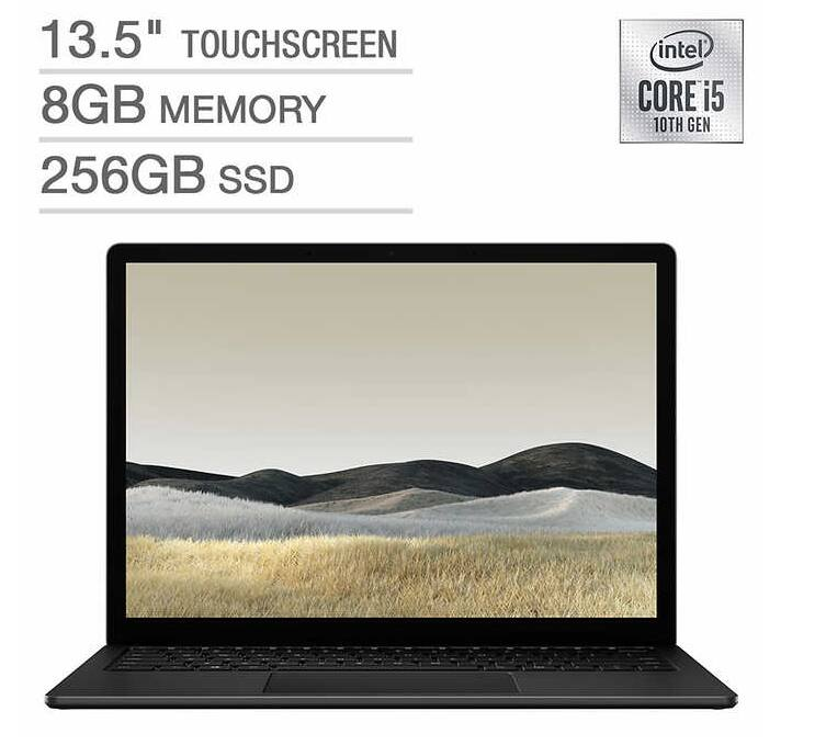 """Microsoft Surface Laptop 3 - 13.5""""/i5/8GB/256GB - Black for $899.99. (Costco Membership Required)"""