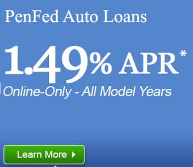 Penfed Auto Loan 1.49% for New, Used, Refinance up to 60 months