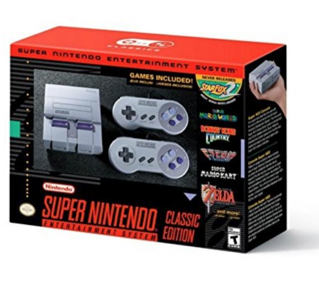 Amazon Prime Nintendo Super NES SNES Classic Lightning Deal $79.98