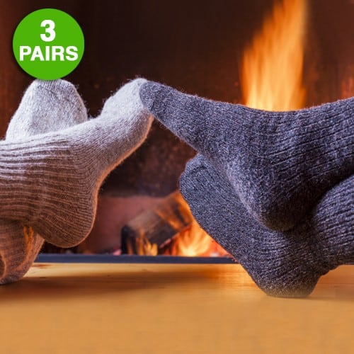 3 Pairs: Extreme Weather Wool Blend Socks - $5 + Free Shipping