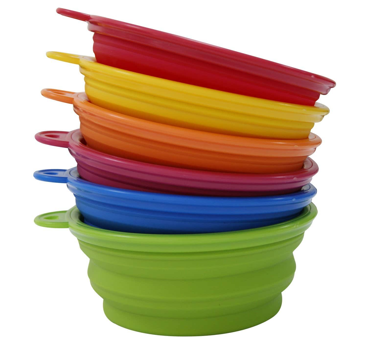 Silicone Collapsing Pet Bowls (Set of 6) - $12 AC + FSSS!