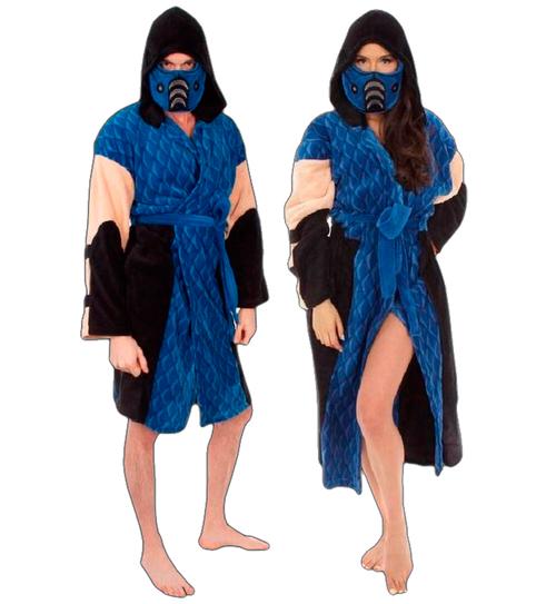 Mortal Kombat Sub-Zero Hooded Plush Robe - $13.25 + Shipping