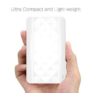 Ultra Compact 4000mAh Portable Power Bank - $5 AC + FSSS