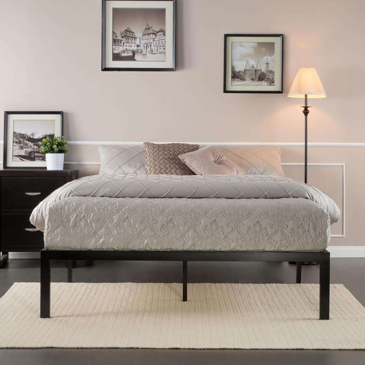Perfect Zinus Platform Metal Bed Frame From Free Shipping Slickdeals net