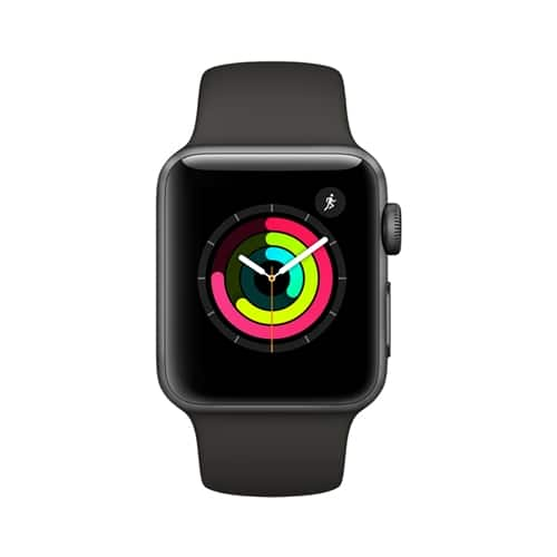 Apple Watch Series 3 38mm Smartwatch (GPS Only, Space Gray Aluminum Case, Black or Gray Sport Band) $299.99