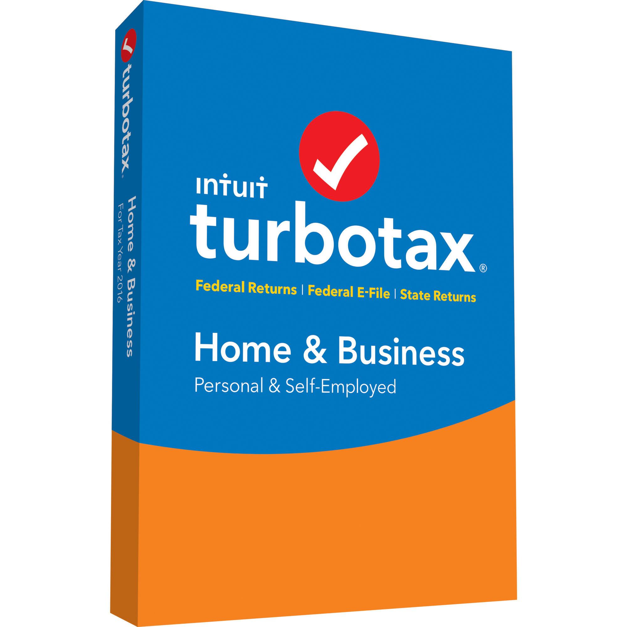 Turbotax Home & Business 2016 $53.35 (PC/Mac Disc) @ Walmart.com