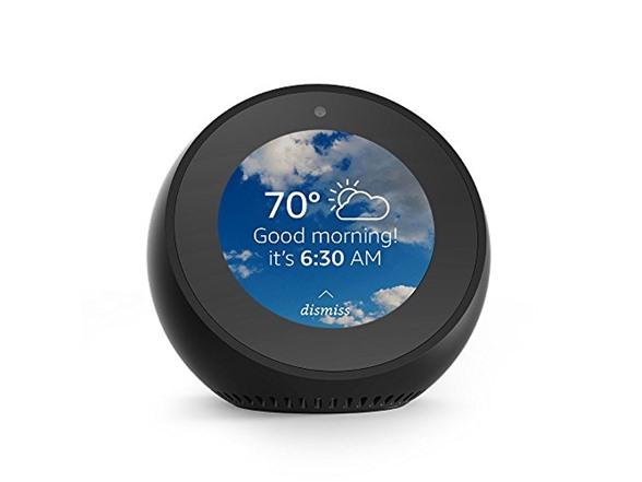 Amazon Echo Spot - Smart Alarm Clock with Alexa - Black $49.99