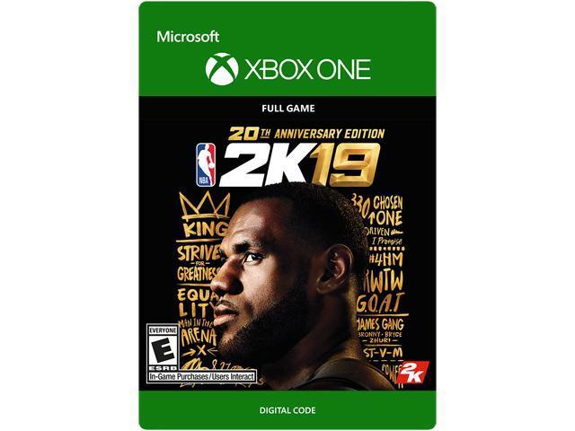 XB1 NBA 2k19 20th Anniversary Edition + $10 Gift Card $99