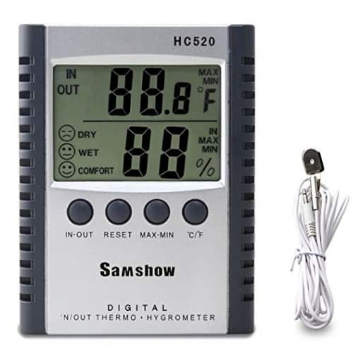 Samshow Humidity Monitor with Indoor Thermometer for $7.74 @Amazon