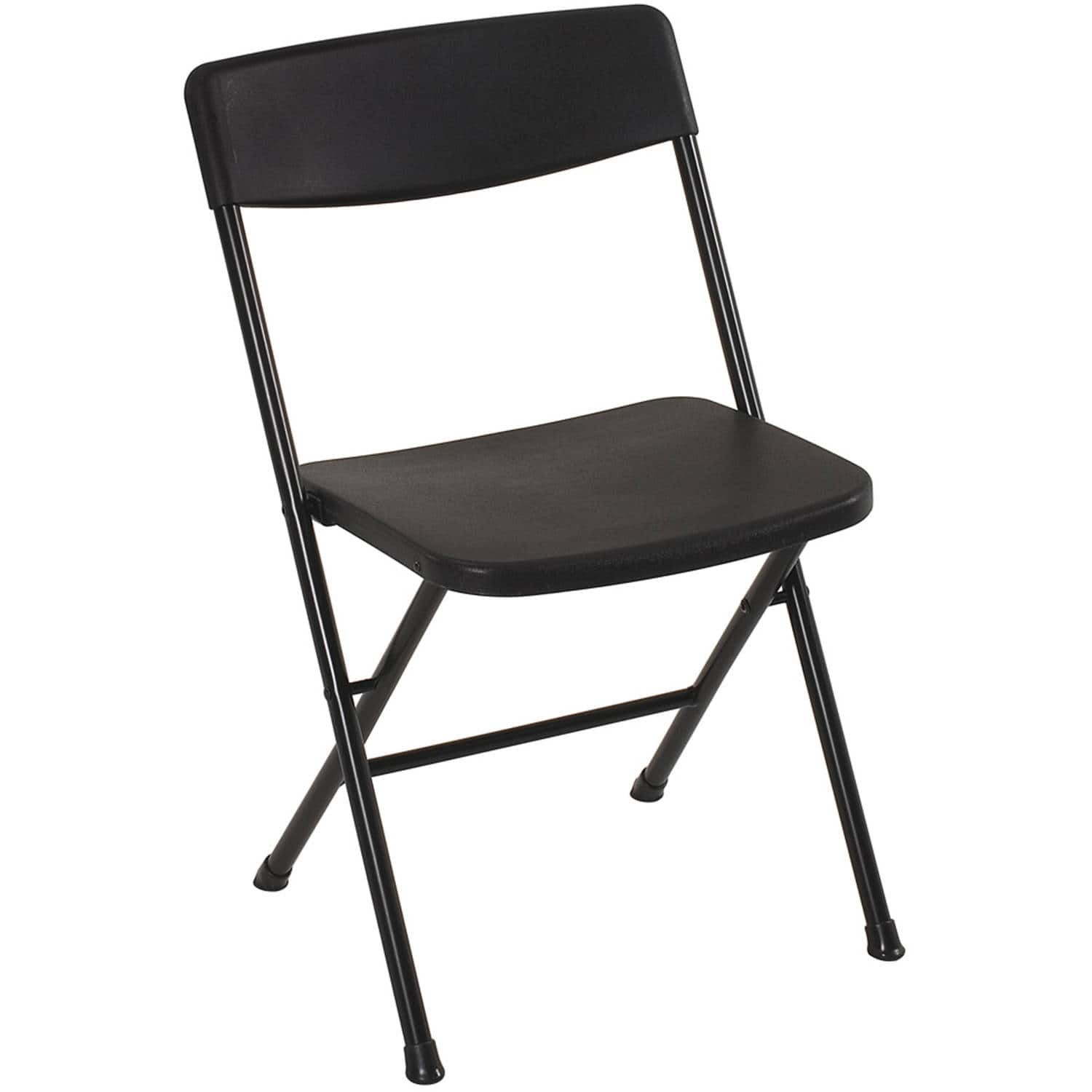 Magnificent Mainstays Cosco Plastic Resin Folding Chair Black Theyellowbook Wood Chair Design Ideas Theyellowbookinfo