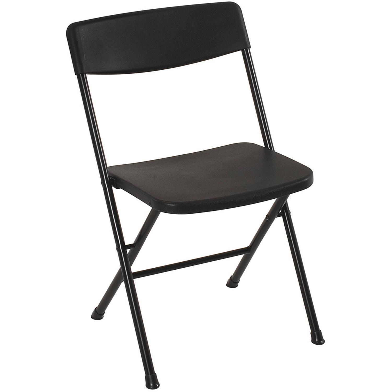 Mainstays (COSCO) Plastic Resin Folding Chair, Black - Walmart YMMV - $3 or less