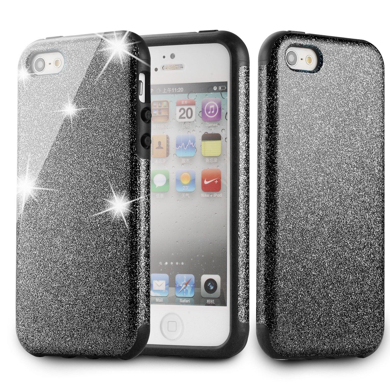 TPU Rubber Glitter Bumper Case  iPhone 5, 5S, SE $3.85 w/ Free Prime Shipping