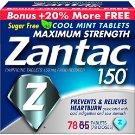 Zantac 150 Maximum Strength Tablets, Regular, 24 Count - $3.59 AC + FS w/Prime - YMMV !DEAD!