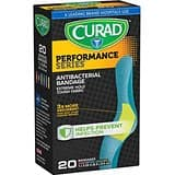 Curad Performance Series Extreme Hold Antibacterial Fabric Bandages, Assorted, X-Large, 10 Count - $1.29 + FS w/Prime