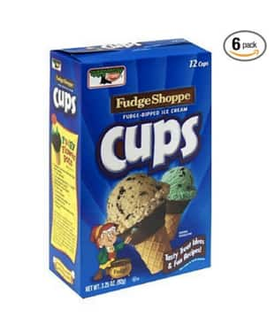Keebler Ice Cream Cups, Fudge Shoppe Fudge Dipped, 12-Count Boxes (Pack of 6) - $7.30 or Less w/S&S