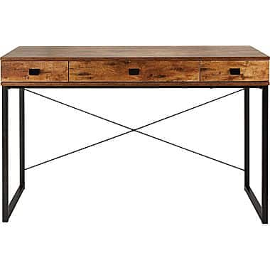 OOS - Staples Hunstone Writing Desk, Rustic Cherry - $38.94 + FS