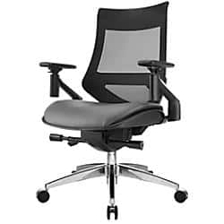 Office Depot B&M Huge YMMV - WorkPro® 1500 Series Bonded Leather Mid-Back Multifunction Chair, Black/White or Black/Grey - $99 or as low as $75